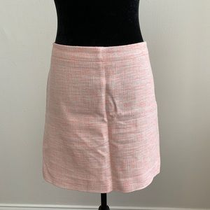 J Crew Pink and Cream Tweed Skirt Size 10